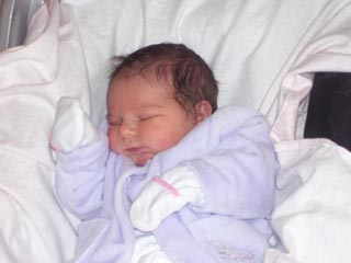 Katie as a newborn